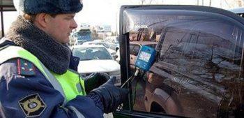 Фото проверки тонировки автостекла